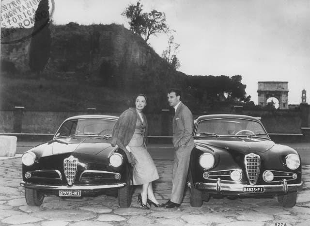 284_027 Giulietta Sprint 1900 Sprint, Anna Proclemer e Giorgio Albertazzi 1954-55