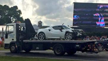 Incidente Alfa romeo 4C