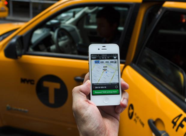 Taxi Uber app
