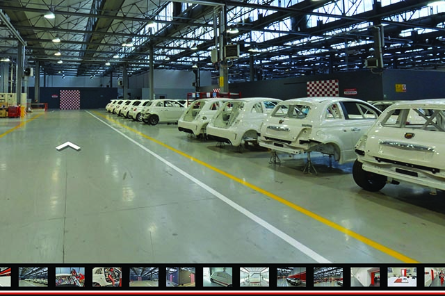 Abarth Google Street View Officine Torino tour virtuale