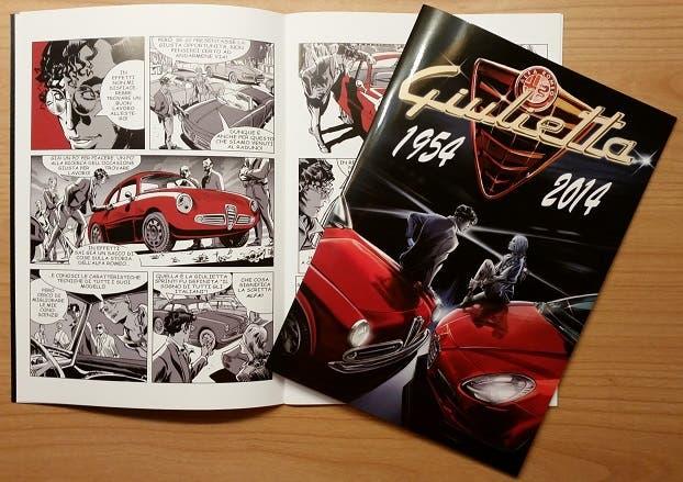 Alfa Romeo Giulietta fumetto 60 anni