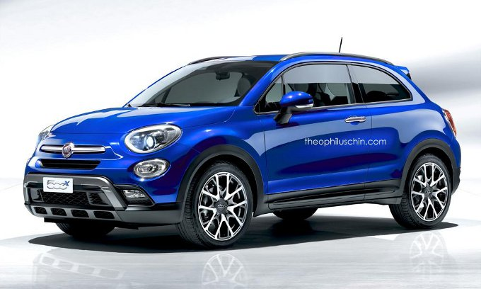 fiat 500x coup nuovo rendering a tre porte. Black Bedroom Furniture Sets. Home Design Ideas