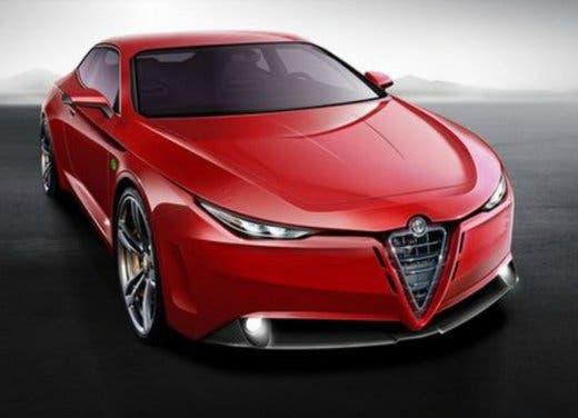 Alfa Romeo Giulia coupé concept car rendering