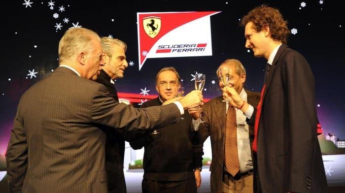 Ferrari Marchionne Arrivabene 2015