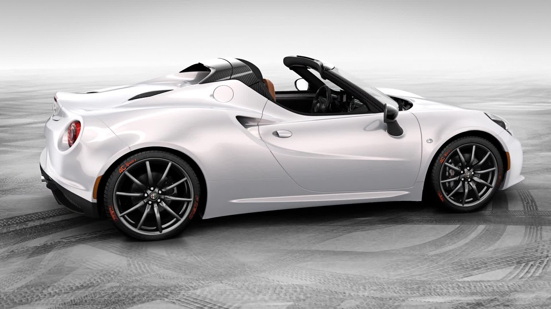 alfa romeo 4c spider in mostra al chicago auto show 2015. Black Bedroom Furniture Sets. Home Design Ideas