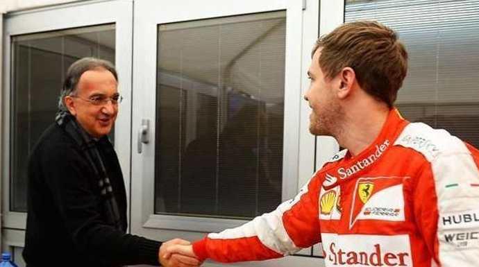 Vettel-Ferrari-Marchionne