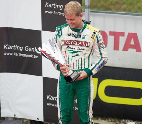 Mick Schumacher participates in the German Kart Championship International ADAC, in Genk, Belgium