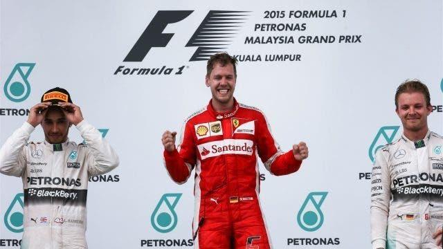 Vittoria Ferrari con Vettel