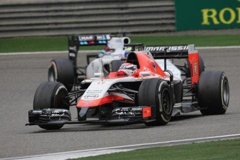 La Marussia-Ferrari n° 17 di Jules Bianchì