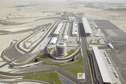 Il circuito è letteralmente in mezzo al deserto.