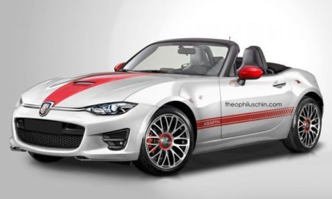 Fiat 124 Spider Abarth render