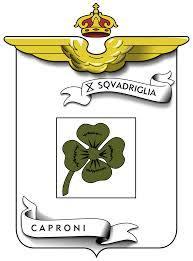 Il quadrifoglio è il logo della x° squadriglia da bombardamento Caproni