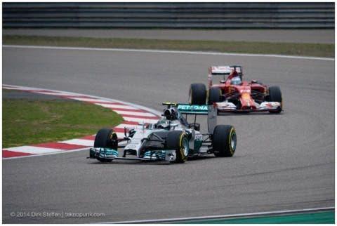 la Ferrari che insegue la Mercedes, ci riuscirà anche qui?