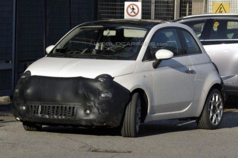 fiat 500 restyling frontale
