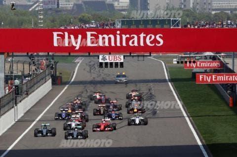La partenza del GP.