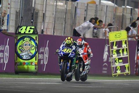 Valentino Rossi sulla Yamaha 2015 MotoGP