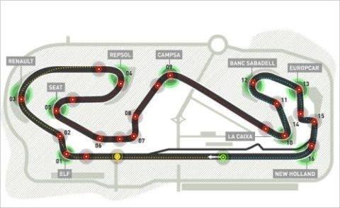 Il circuito del Montmelò sorge non lontano da Barcellona.