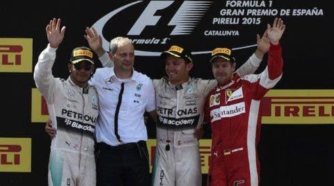 Vettel terzo sul podio a Barcellona