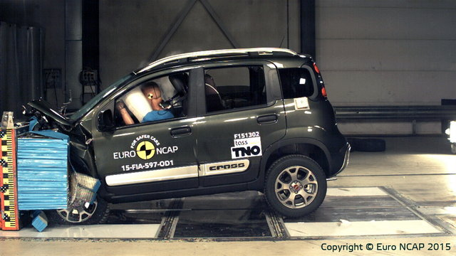 fiat panda cross solo 3 stelle nel test euroncap. Black Bedroom Furniture Sets. Home Design Ideas