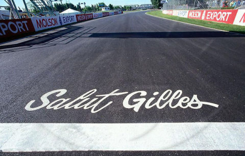 L'omaggio a Gilles Villeneuve.