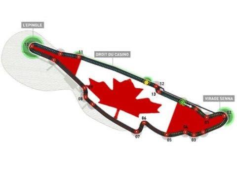 Il tracciato di Montreal