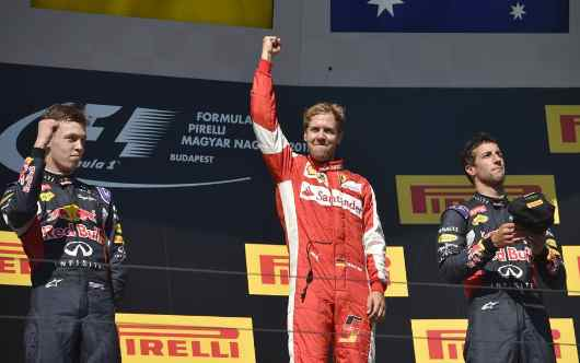 Ferrari, Vettel super trionfa nel GP Ungheria: