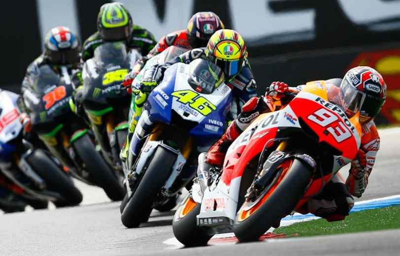 MotoGp: Marquez domina, Rossi buon terzo posto