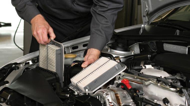 Test e prova dei filtri aria per auto