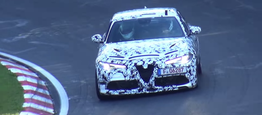alfa romeo giulia nuovo video dei test al nurburgring. Black Bedroom Furniture Sets. Home Design Ideas