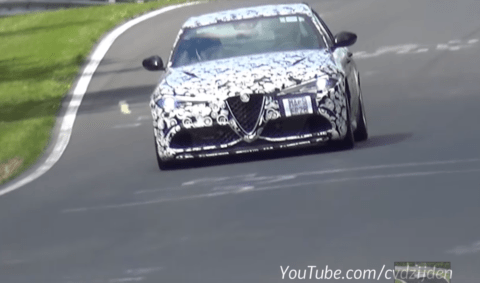 AlfaRomeo Giulia nurburgring test video