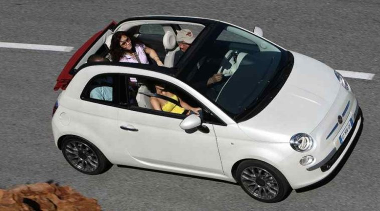 fiat 500c cabrio pi venduta in italia. Black Bedroom Furniture Sets. Home Design Ideas