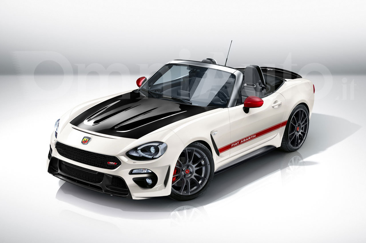 fiat 124 spider abarth nuovo rendering basato sulla nuova spider di fiat. Black Bedroom Furniture Sets. Home Design Ideas