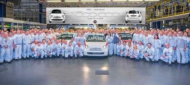 Fiat 500: traguardo 1,5 milioni unità da Fca Poland