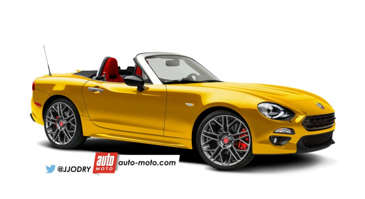 fiat 124 spider abarth ancora un rendering in attesa della presentazione ufficiale. Black Bedroom Furniture Sets. Home Design Ideas