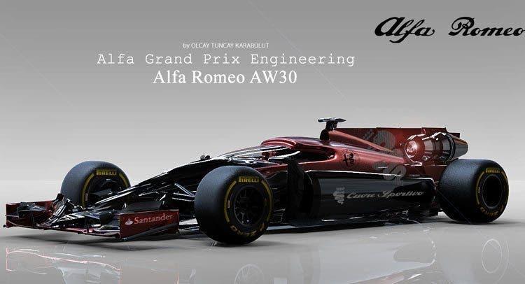 Alfa Romeo AW30 F1 Rendering