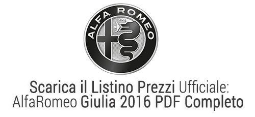 download listino giulia