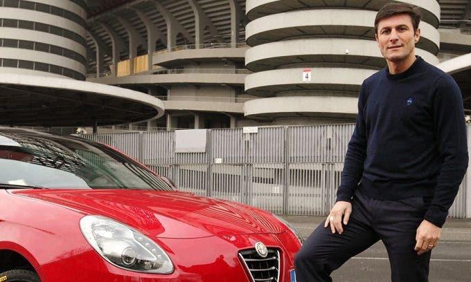 Alfa Romeo Giulia e Javier Zanetti