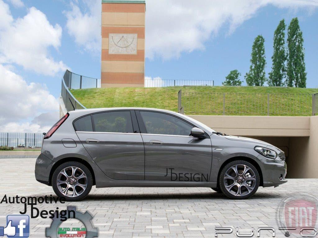 Fiat Punto 2017 render