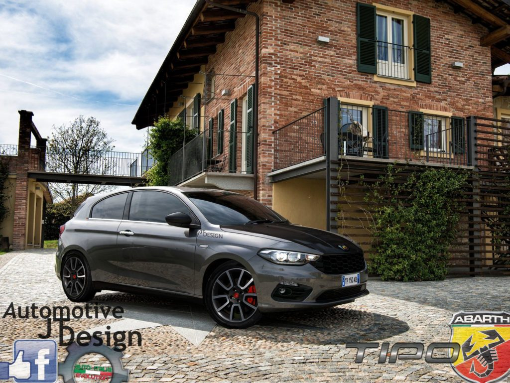 fiat tipo hatchback abarth il render che fa impazzire il web. Black Bedroom Furniture Sets. Home Design Ideas