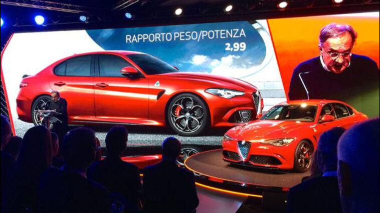 Alfa Romeo Giulia Marchionne Presentazione Conferenza