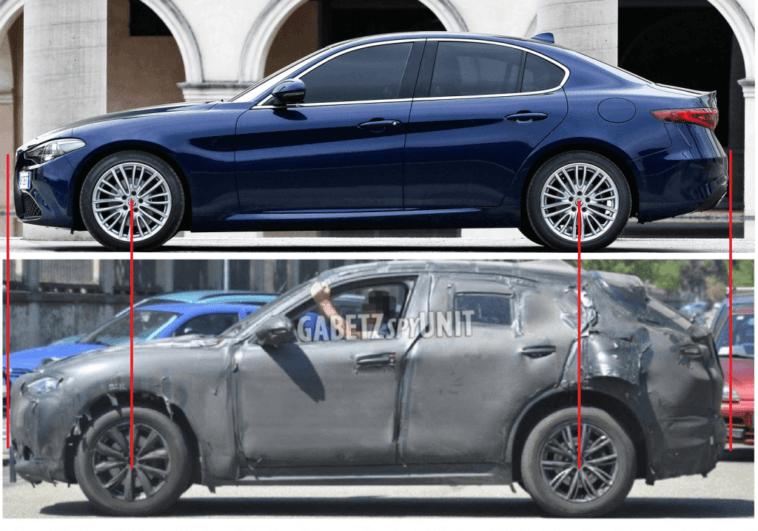 Le dimensioni dell'Alfa Romeo Stelvio messe a confronto con quelle della Giulia