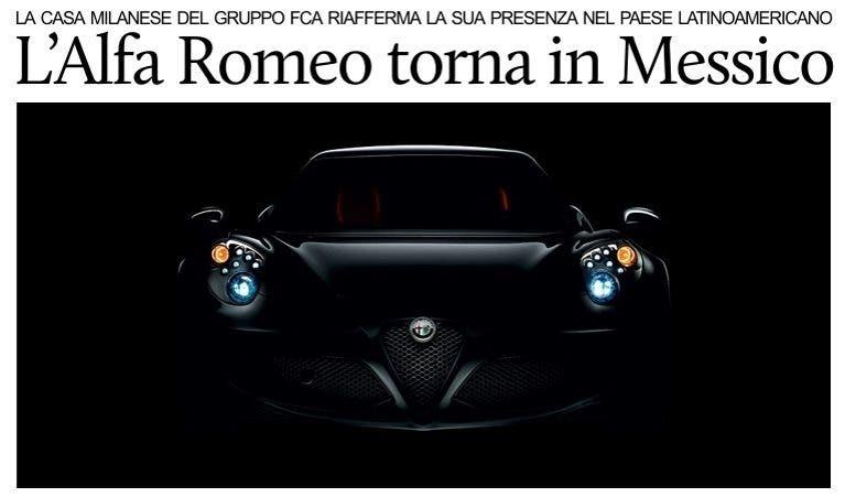 Alfa Romeo: nuovo record di vendite in Messico, vola FCA