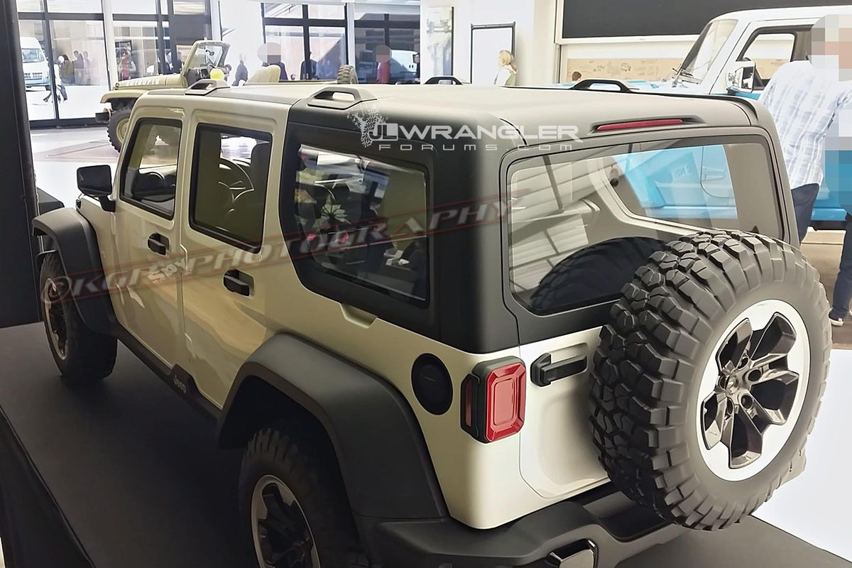 Jeep wrangler 2018 un modellino in scala ne rivela l 39 aspetto definitivo