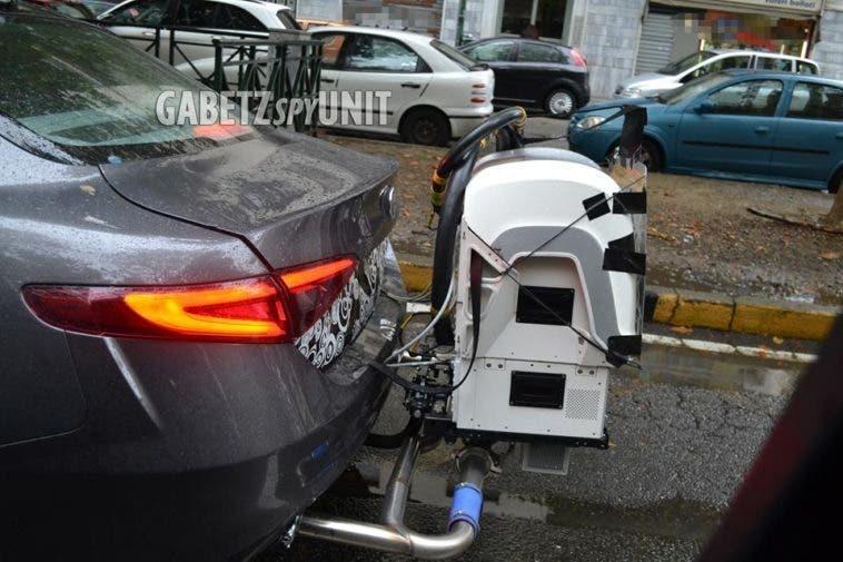 Alfa Romeo Giulia test inquinamento