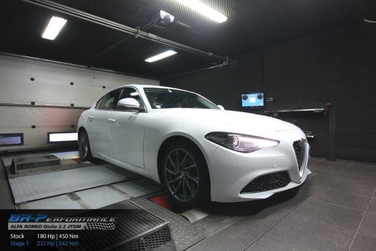 Alfa Romeo Giulia 2.2 Diesel: BR-Performance aumenta la potenza a 232 Cv