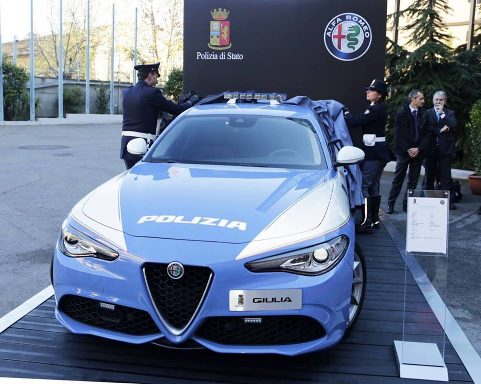 La nuova Alfa Romeo Giulia della Polizia