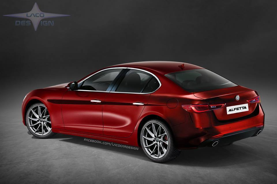Alfa Romeo Alfetta: l'ultimo rendering dal web