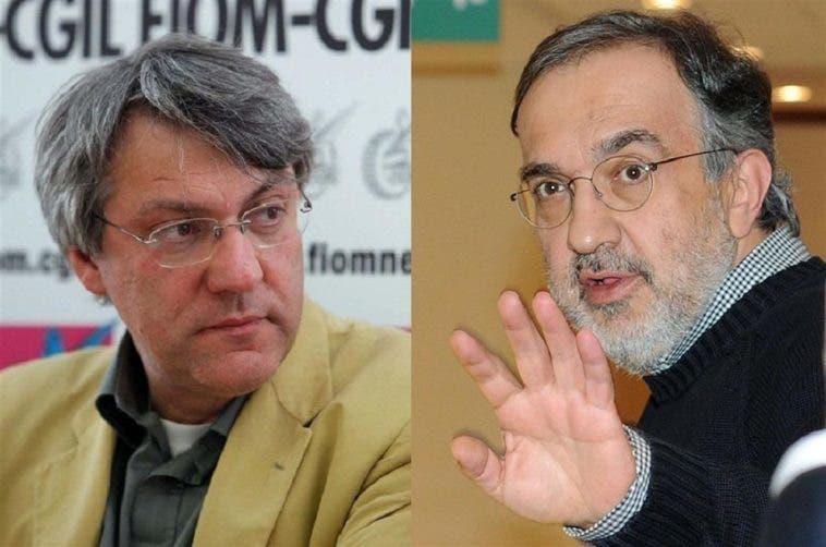 Maurizio Landini e Sergio Marchionne