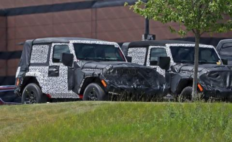 Jeep Wrangler foto spia