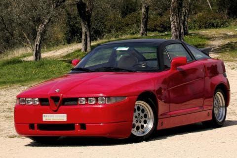 Immagine dell'Alfa Romeo SZ modello del 1991, modello messo all'asta negli Stati Uniti